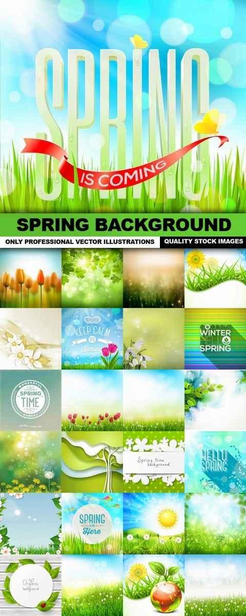 Spring Background – 25 Vector