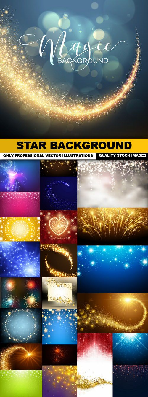 Star Background – 25 Vector