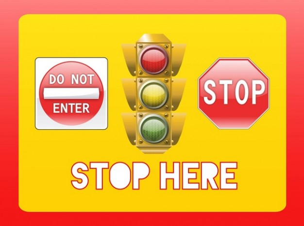 Stop symbols and semaphore  Vector | Free Download