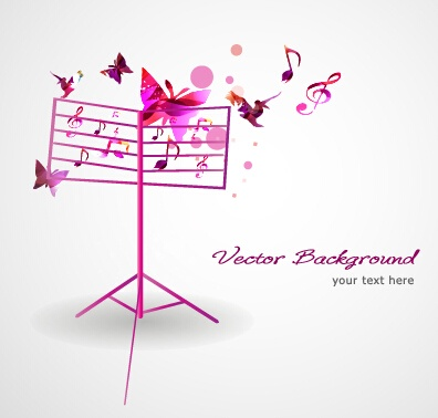 Stylish colorful music vector background graphics 06