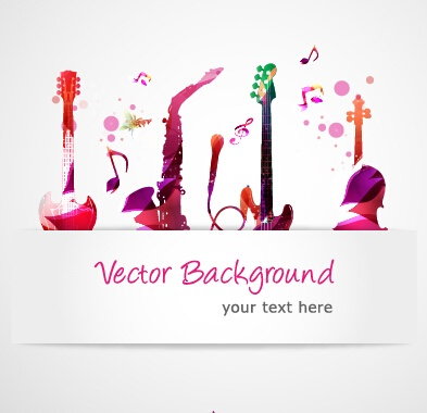Stylish colorful music vector background graphics 05