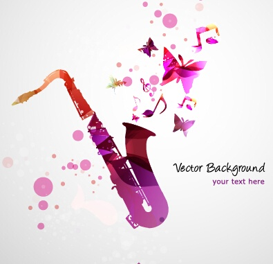 Stylish colorful music vector background graphics 04