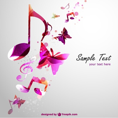 Stylish colorful music vector background graphics 02