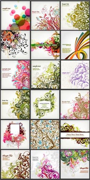 stylish decorative pattern background vector set