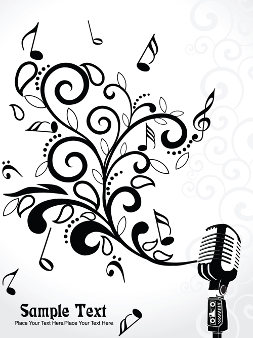 Stylish Music Illustration vector graphic 02