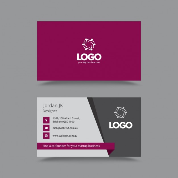 Stylish Professional Business Card  Vector | Free Download