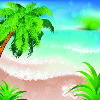 Summer beach and island background 03