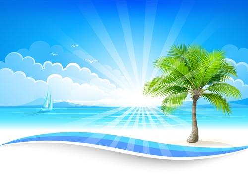 Summer sea background art 06