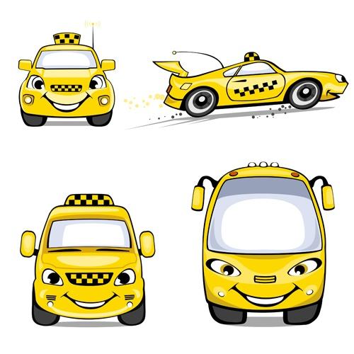 Taxi design vector 01