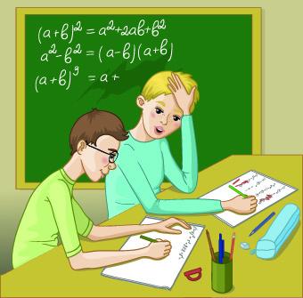 Teacher with Student vector 01