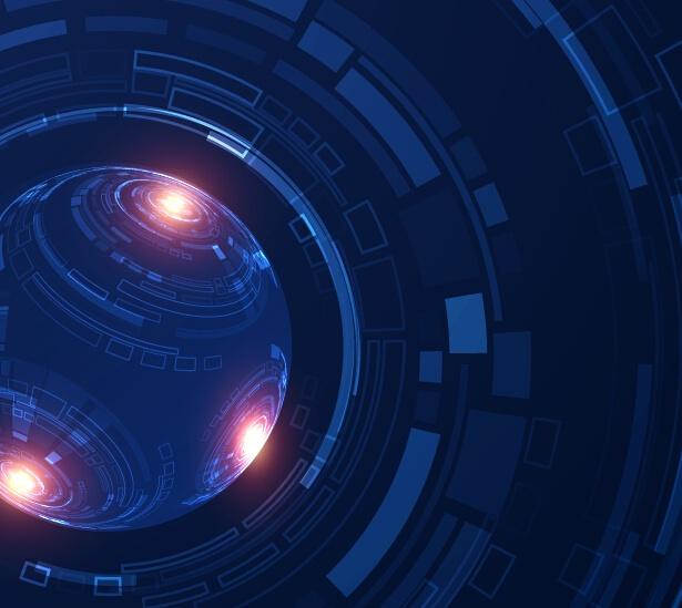 Tech digital world backgrounde template vector 06