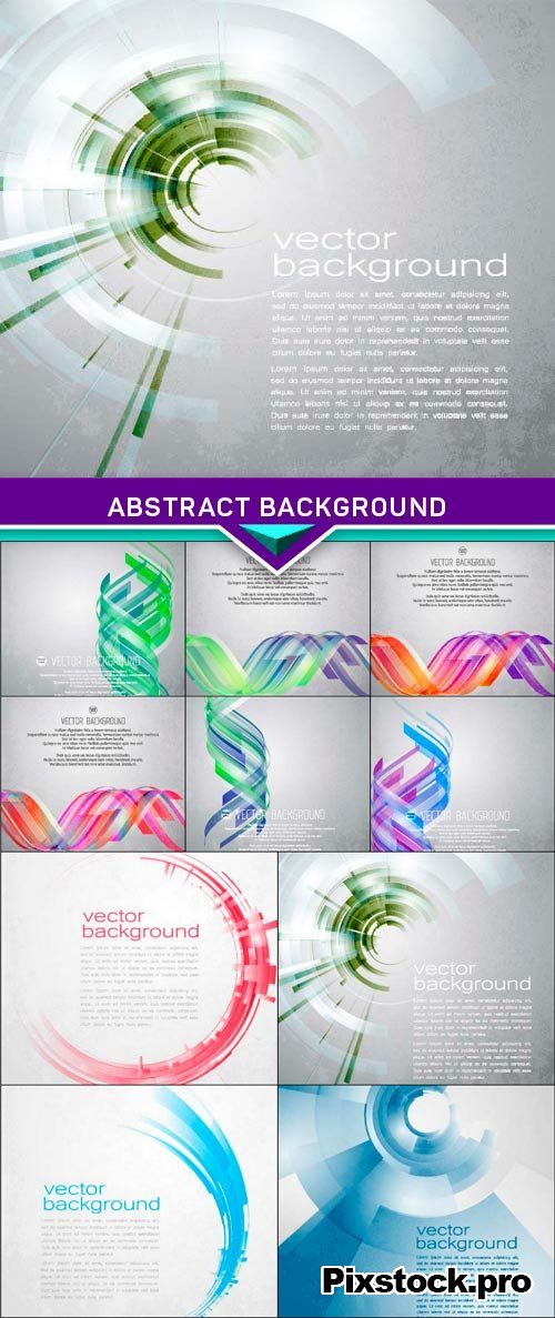 Techno Vector Circle Abstract Background 10x EPS