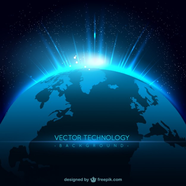Technology background with planet  Vector | Free Download