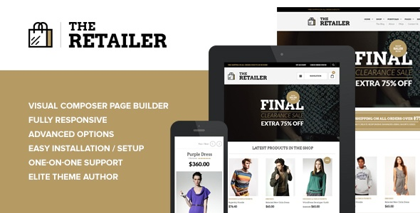 The Retailer – Responsive WordPress Theme – WordPress