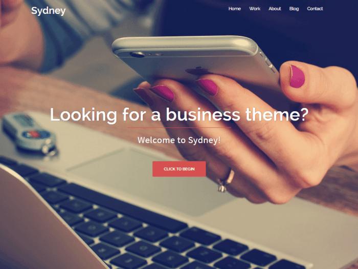 Sydney WordPress Free Themes