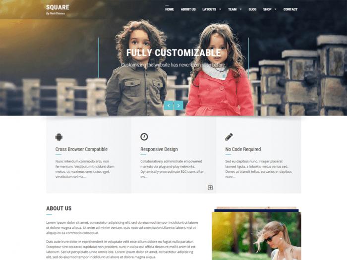 Square WordPress Themes