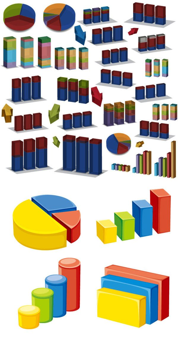 Three-dimensional data map vector Graphic