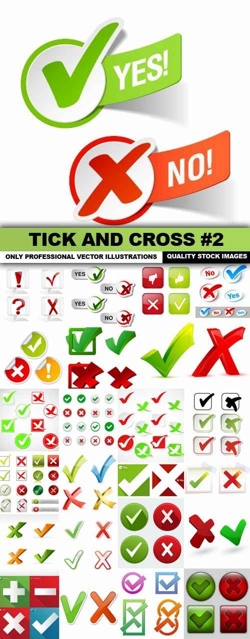Tick And Cross #2 – 25 Vector