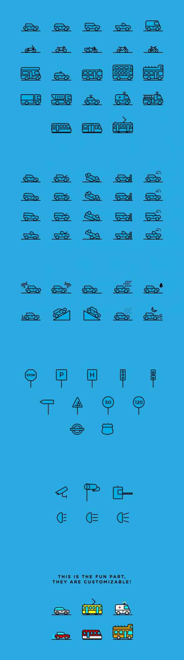 Traffic & Transportation Icons   IconStore