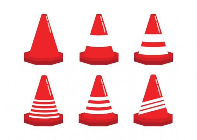 Traffic cones set  Vector | Free Download