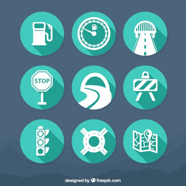 Traffic icons  Vector | Free Download