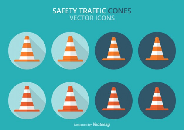 Traffic Orange Cone Labels  Vector | Free Download