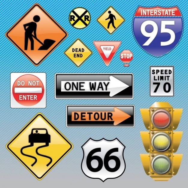Traffic Signs  Vector | Free Download