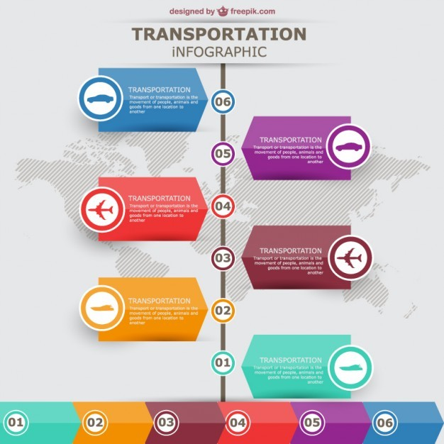 Transportation vector infographic labels design  Vector | Free Download