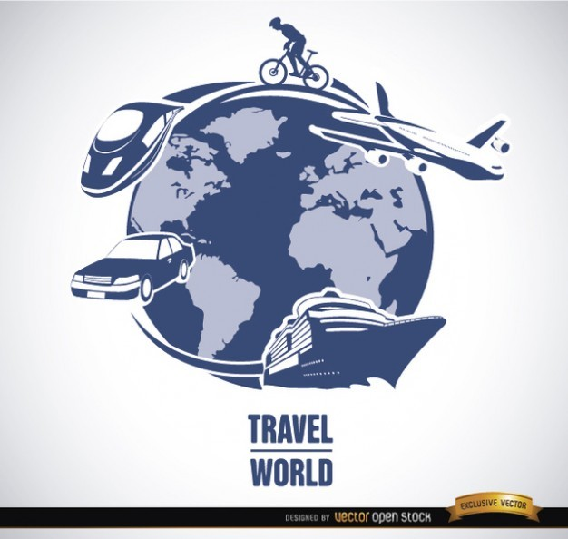 Travel around the World concept Vector | Free Download