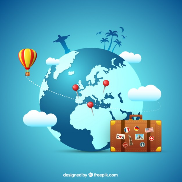 Travel concept background Vector | Free Download