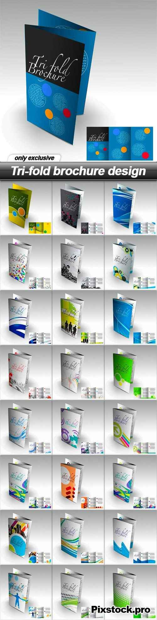 Tri-fold brochure design – 25 EPS
