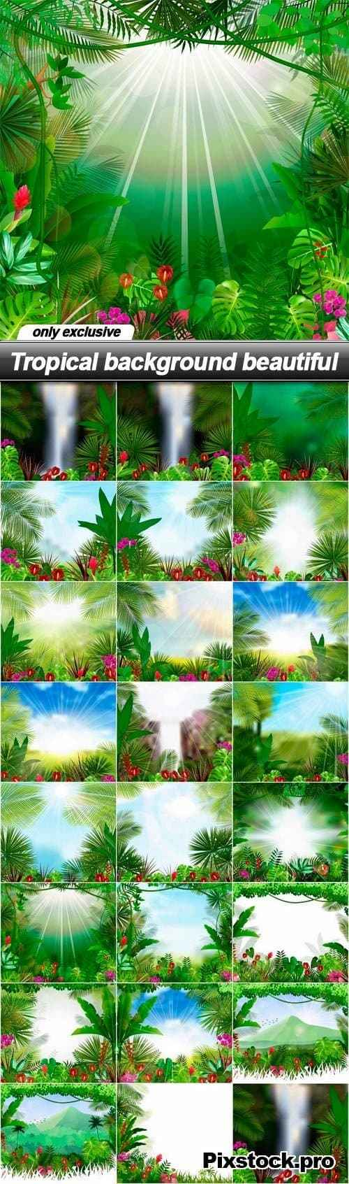 Tropical background beautiful – 25 EPS