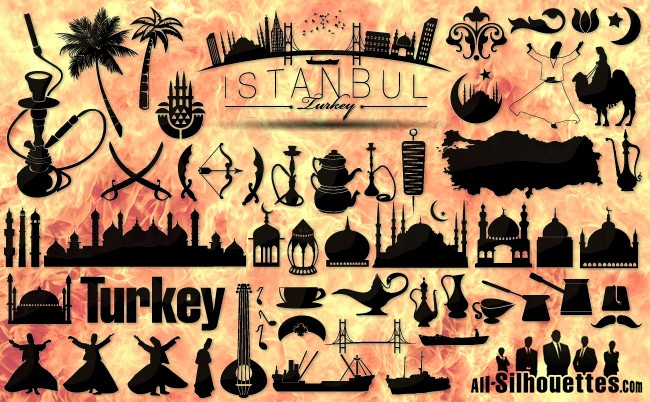 Turkey Istanbul vector icons