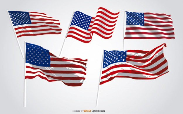 United States flags pack
