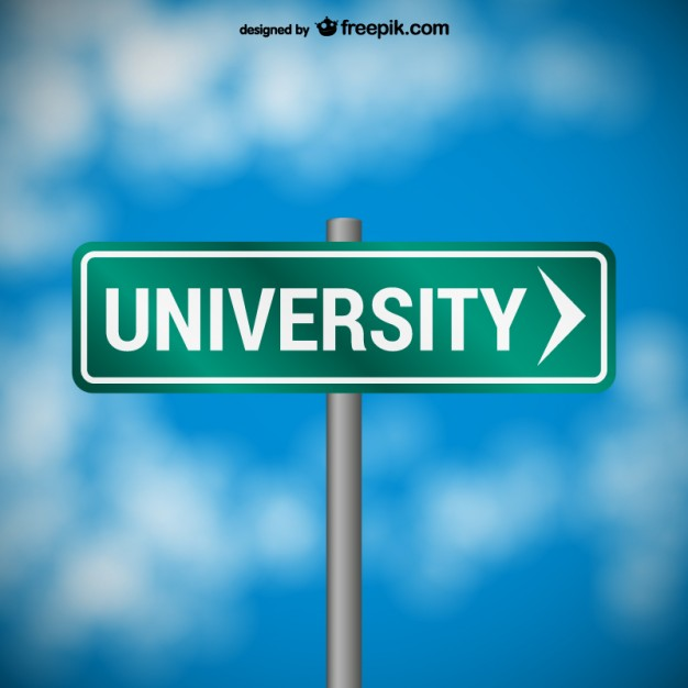 University road sign  Vector | Free Download