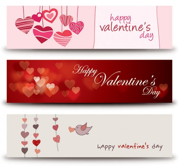 Valentines Banners Vector | Free Download