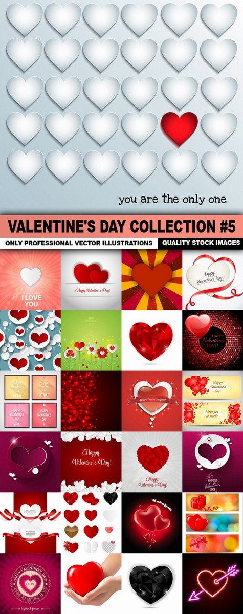 Valentine's Day Collection #5 – 25 Vector