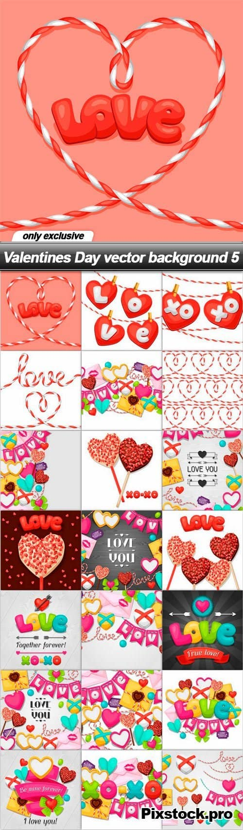 Valentines Day vector background 5 – 21 EPS