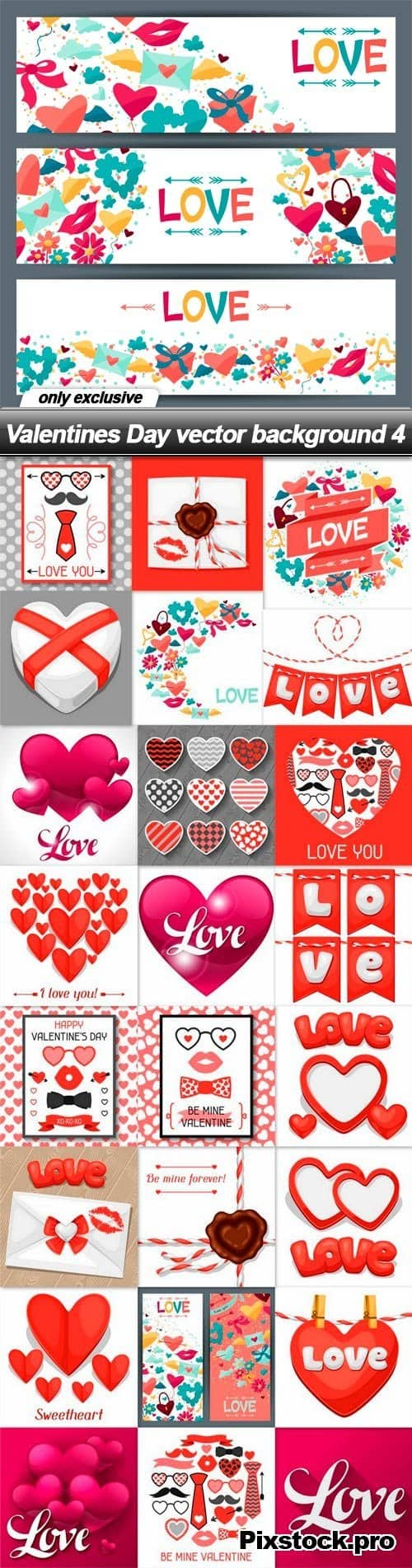 Valentines Day vector background 4 – 25 EPS