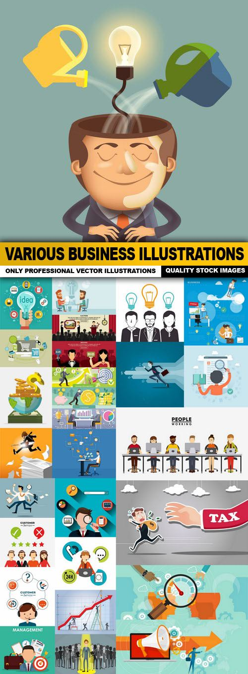 Various Business Illustrations – 25 Vector