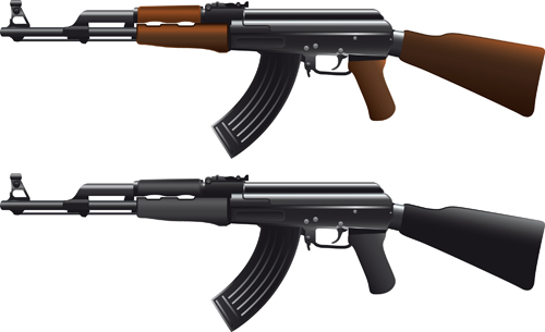 Various Military equipment design elements vector set 03