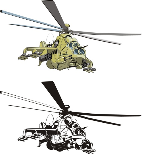 Various Military equipment design elements vector set 01