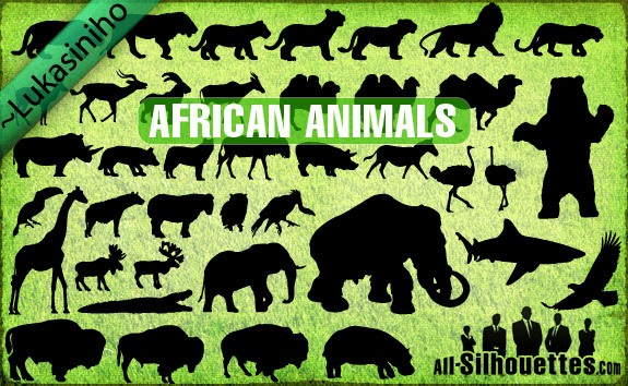 Vector African Animals Silhouettes – All-Silhouettes
