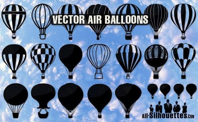 Vector air balloons