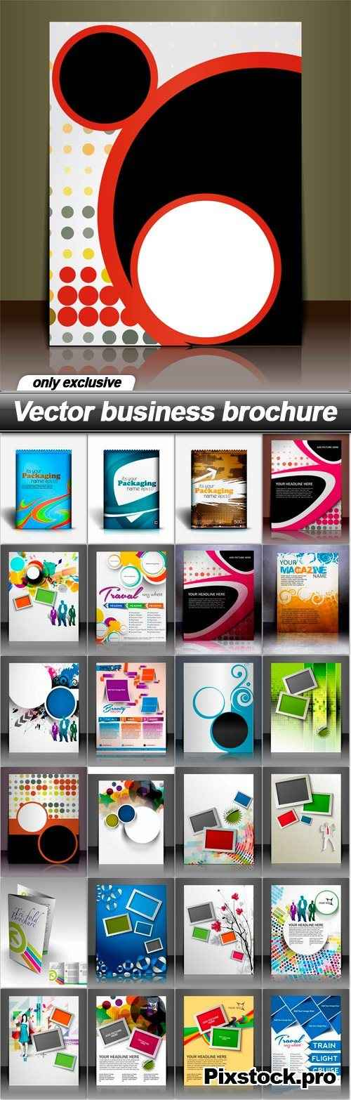 Vector business brochure – 25 EPS
