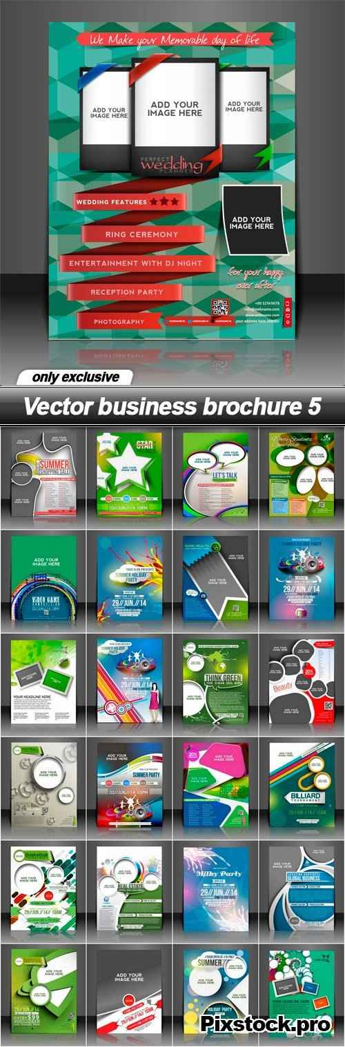 Vector business brochure 5 – 25 EPS
