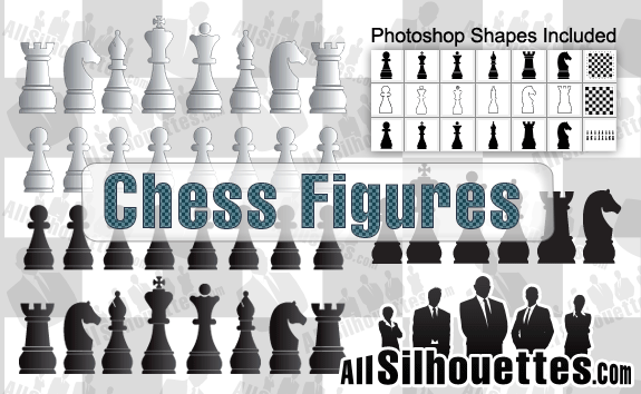 Vector Chess Figures – All-Silhouettes