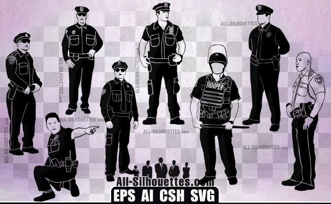 Vector cops policeman es