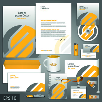 Vector Corporate identity template kit 05