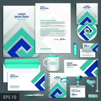 Vector Corporate identity template kit 02